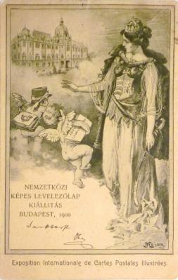 HU - Budapest - Nemzetközi Képes Levelezőlap Kiállítás - 1900