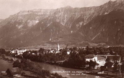 CH - Interlaken, Hotel du Lac - 1920-as évek